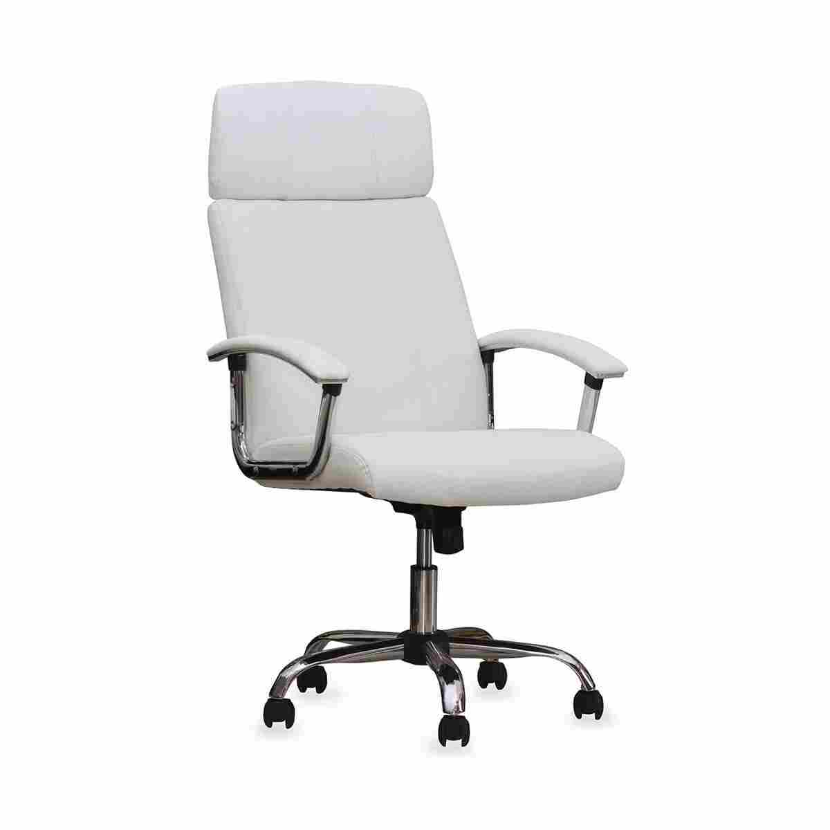 White Leather Office Chair Manchanda
